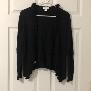 Loft Black Flower Lined Cardigan